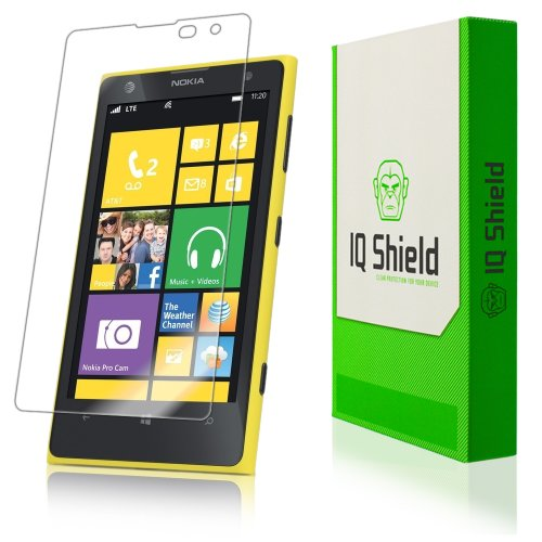Iq Shield Liquidskin - Nokia Lumia 1020 Screen Protector With Lifetime Replacement Warranty - High Definition (Hd) Ultra Clear Phone Smart Film - Premium Protective Screen Guard - Extremely Smooth / Self-Healing / Bubble-Free Shield - Kit Comes In Frustra