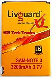 LivGuard Battery For Samsung Note 3 N9000/N9005 3200mAh