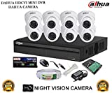 Dahua DH-HCVR4108HS-S2 8CH Dvr, 8(DH-HAC-HDW1000RP) Dome Cameras (With Accessories,1TB HDD )