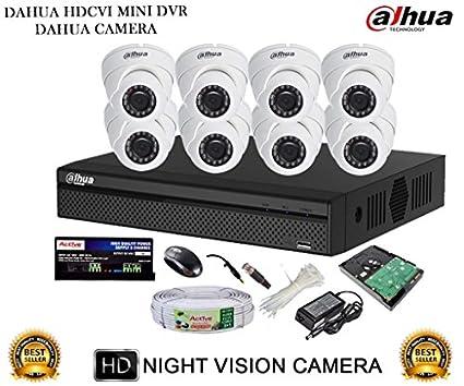 Dahua-DH-HCVR4108HS-S2-8CH-Dvr,-8(DH-HAC-HDW1000RP)-Dome-Cameras-(With-Accessories,1TB-HDD-)