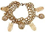 Owl Charms Multi-Tassled Chains Gold Foamed Bracelet for Women