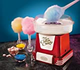 Nostalgia PCM805RETRORED Retro Series Hard & Sugar Free Candy Cotton Candy Maker with Flossing Cones