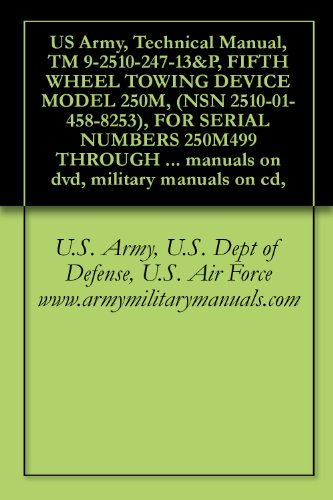 US Army, Technical Manual, TM 9-2510-247-13&P, FIFTH WHEEL TOWING DEVICE MODEL 250M, (NSN 2510-01-458-8253), FOR SERIAL NUMBERS 250M499 THROUGH 200M999, ... manuals on dvd, military manuals on cd,