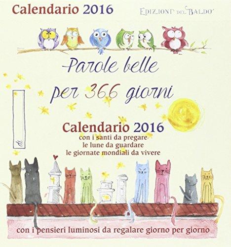 Parole belle per 366 giorni Calendario 2016 PDF