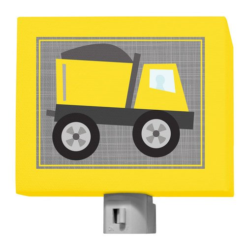 "Oopsy Daisy Ways to Wheel Dump Truck Night Light, Yellow, 5"" x 4"""