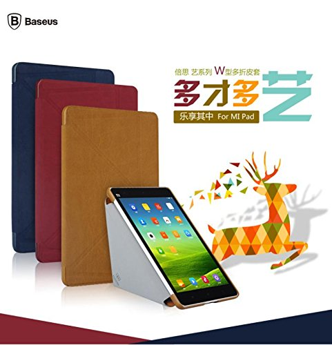 Original Baseus ART Series Stand Auto Sleep Leather Flip Case Cover For Xiaomi Mi Pad MiPad- Red