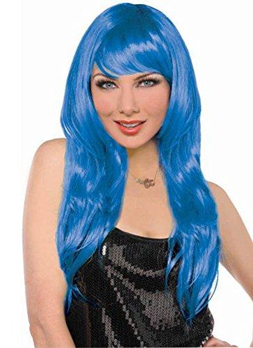 Blue Glamorous Wig - 1