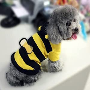 Cute Bumble Bee Styled Dog Suit Pet Clothing & Apparel-Size 14