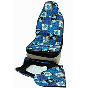 hawaiian car seat covers blue sea turtle set of 2 front bucket seat covers made. Black Bedroom Furniture Sets. Home Design Ideas
