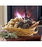 Oval Hearth Gift Basket With Fire Starters