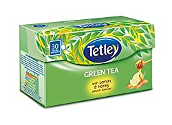 Tetley Green Tea, Lemon & Honey, 30 Tea Bags