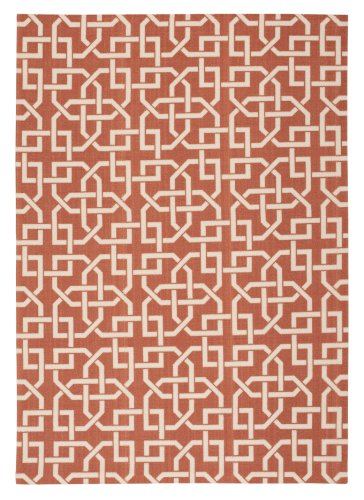 Nourison Home & Garden (RS090) Rust Rectangle Area Rug, 5-Feet 3-Inches by 7-Feet 5-Inches (5'3