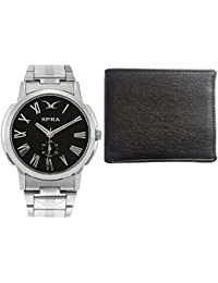 XPRA Watch & Wallet For Men Combo-ARM-BK-WL
