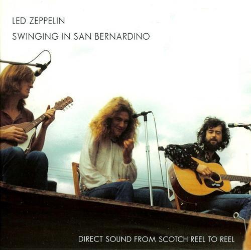 Led Zeppelin - Swinging In San Bernardino (Cd Vinyl Look Retro Black Edition Reissue 2014)