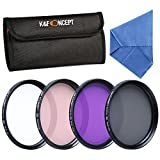 K&F Concept 52mm 4pcs UV CPL FLD Warming Lens Filter Ki...