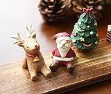かわいい サンタ 人形 トナカイ ツリー セット クリスマス 小さい 癒し サイズ 置物 [ホワイトキャッスル]