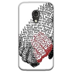 Mott2 Text Hand Back cover for Motorala MOTO G (2G) (Limited Time Offers,Please Check the Details Below)