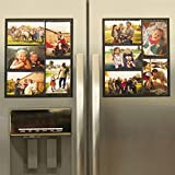 "Wind & Sea Magnetic Picture Frame Collage For Refrigerator - Holds 10 - 4x6 Photos - Organizes Your Fridge For That Model Home Look - ""Slam-Proof"" Flexible Magnet Photo Frame - Makes For a Great Gift - Affordable Way To Protect and Display Your Family Memories"