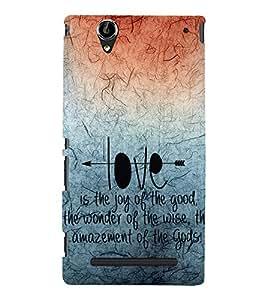 EPICCASE creation of god Mobile Back Case Cover For Sony Xperia T2 (Designer Case)