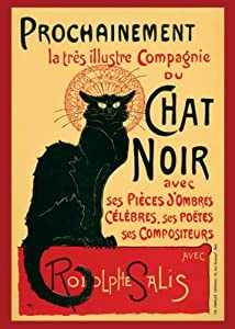 Steinlein-Le Chat Noir, Art Poster Print, 24 by 36-Inch