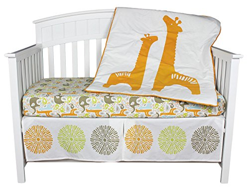 Cool  Set Zoo Pom Pom Animals Piece Crib Little Bedding