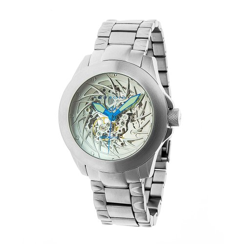 Android Ninja 50 Skeleton Automatic Men's Watch Silvertone Dial