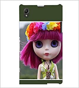 PrintDhaba Blue eyed Doll D-1030 Back Case Cover for SONY XPERIA Z1 (Multi-Coloured)