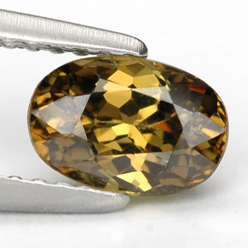 Gems Royal 1.2 Ct. Natural Madagascar Demantoid Garnet Gems : 7.2 x 4.9 x 4.08 mm.