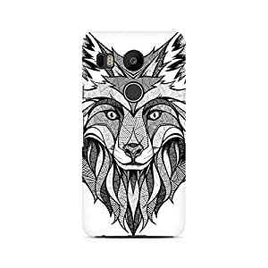 Ebby Line Art Wolf Premium Printed Case For LG Nexus 5X