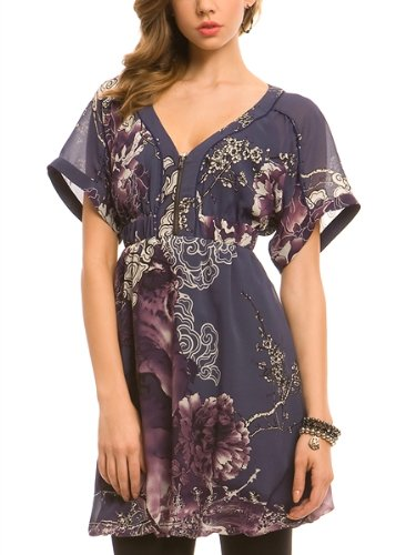 GUESS Dolman Sleeve Geisha Dress