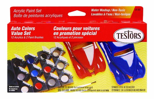 Testors Model Car Acrylic Paint Pot Set Picture