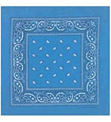 Bandanas by the Dozen (12 units per pack, 100% cotton) - Blue