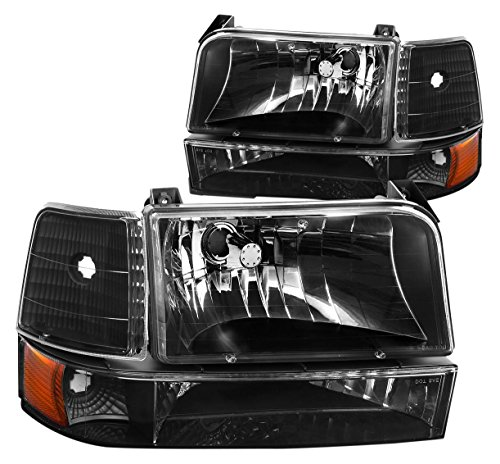 DNA Motoring HL-OH-F15092-6P-BK-AM Headlight Assembly, Driver & Passenger Side (Headlight Assembly Bronco compare prices)