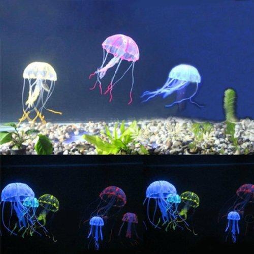 (Green) Artificial Silicone Vivid Jellyfish For Fish Aquarium Decor