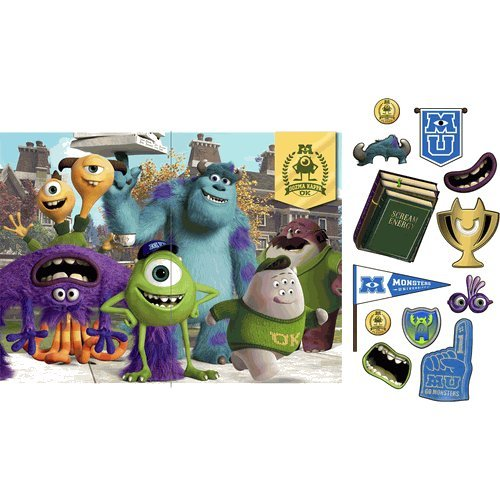Hallmark - Disney Monsters U Backdrop and Props Kit - Multi-colored