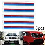Areyourshop 5pcs Front Grille Grill Vinyl Strip Sticker Decal for BMW M3 M5 E46 E60 E90 E92