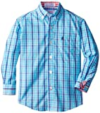 Izod Little Boys Plaid Woven Shirt