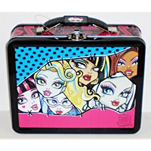 Monster High Freaky Fab Embossed Metal Lunch Box/ Carry-All