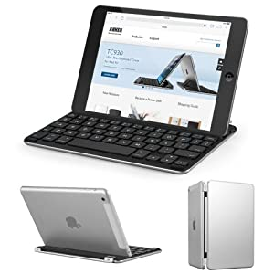 Anker® TC840 Bluetooth Folio Keyboard Case for iPad mini 2 and iPad mini - Smart Case with Auto Sleep / Wake, Comfortable Built-In Keyboard and Extra Long Battery Life (White)