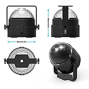 2 packblisso party lights sound activated disco ball strobe light 2 packblisso party lights sound activated disco ball strobe lightxmas party lights7colors stage aloadofball Choice Image