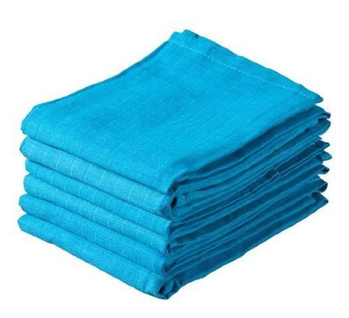Jollein Hydrophilic Nappy Cloth (6 Pack, Blue)