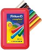 PELIKAN - Pâte à modeler pour enfants creaplast 198/14R, rondeContenu: 4 cordons dans une boîte rouge transparente (619 890) assorti en 9 couleurs: blanc, noir, m