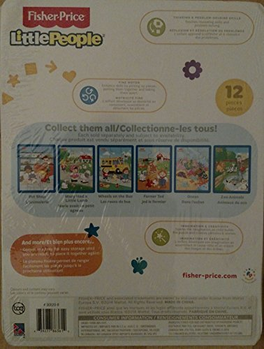 Fisher Price Little People 12 Piece Inlay Puzzle (Assorted, Designs Vary)
