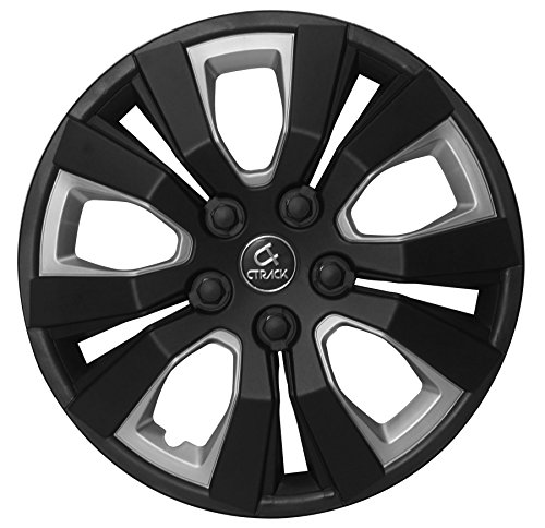 "CTRACK -HIGH IMPACT ABS WHEEL COVERS -BLACK/SILVER -13"" (SET OF 4 PCS)"