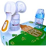 Manual Breast Pump by NipSweet - For Nursing Mothers, Complete with Accessories with Storage, Maximum Control and Comfort, Soft Textured Comfimax Massage Cushion, Give Your Baby Only the Best Today!