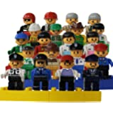 A Set of 20 Family and Community Figures Duplo Compatible