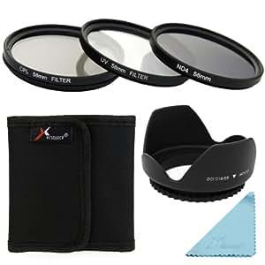 + parasoleil 58mm pour Canon EOS 5D Mark 5D2 5D3 6D 7D 70D 60D 700D