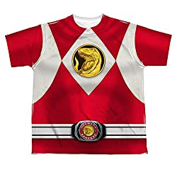 Power Rangers Red Ranger Uniform All Over Print Youth Front T-Shirt