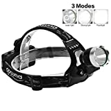 Gosund 1200LM K11 Waterproof Versatile Headlamp with 3Modes 2*18650 Rechargeable Battery Adjustable for Camping Running & Hiking