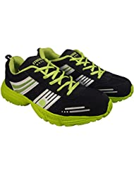 Action Synergy 7157 Black Green Sports Shoes